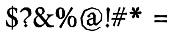 Berylium Bold Font OTHER CHARS