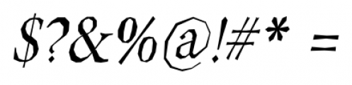 Berylium Italic Font OTHER CHARS