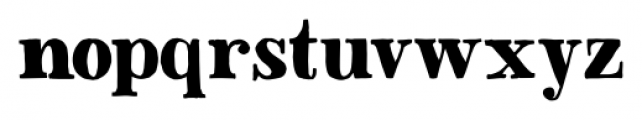 Besley Hand Bold Font LOWERCASE