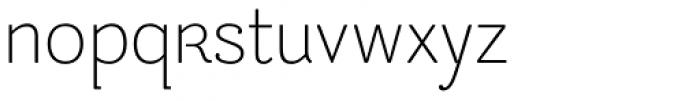 Be Creative Ultralight Font LOWERCASE