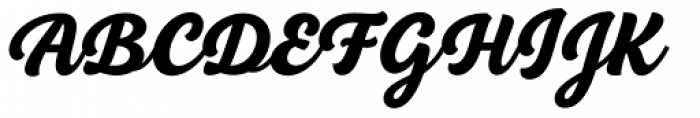 BeachBar Script Black Font UPPERCASE
