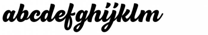 BeachBar Script Black Font LOWERCASE