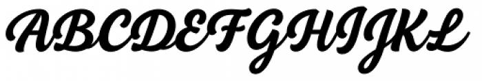 BeachBar Script Bold Font UPPERCASE