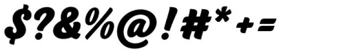 BeachBar Script Heavy Font OTHER CHARS