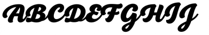 BeachBar Script Heavy Font UPPERCASE