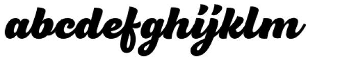 BeachBar Script Heavy Font LOWERCASE