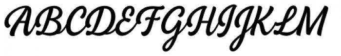 BeachBar Script Regular Font UPPERCASE