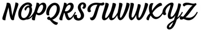 BeachBar Script Semi Bold Font UPPERCASE