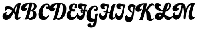 Bealiva Vintage Script Font UPPERCASE