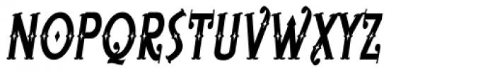 Bearded Lady BB Italic Font UPPERCASE
