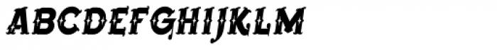 Bearded Lady BB Italic Font LOWERCASE