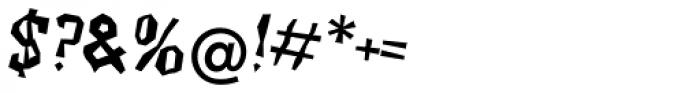 Beasty EF Regular Oblique Font OTHER CHARS
