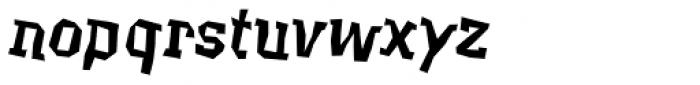 Beasty EF Regular Oblique Font LOWERCASE