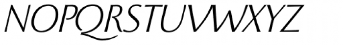 Beatrix Antiqua Light Italic Font UPPERCASE