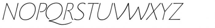 Beatrix Antiqua Thin Italic Font UPPERCASE