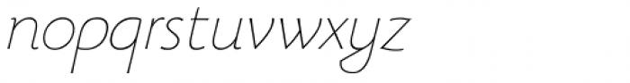 Beatrix Antiqua Thin Italic Font LOWERCASE