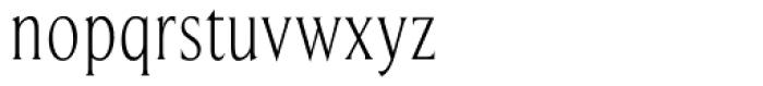 Beaufort Condensed Light Font LOWERCASE