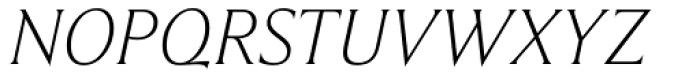 Beaufort Light Italic Font UPPERCASE