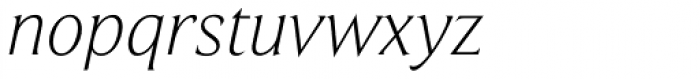 Beaufort Pro Light Italic Font LOWERCASE
