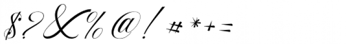 Beauty Athena Italic Font OTHER CHARS