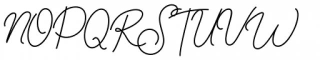 Beauty Style Light Font UPPERCASE