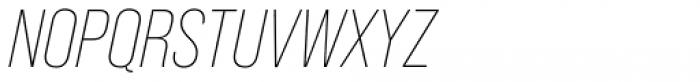 Bebas Neue Pro Light Italic Font UPPERCASE
