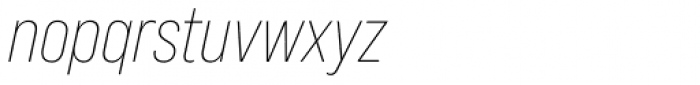 Bebas Neue Pro Light Italic Font LOWERCASE