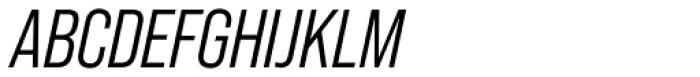 Bebas Neue Pro Middle Italic Font UPPERCASE