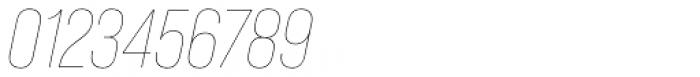 Bebas Neue Pro Thin Italic Font OTHER CHARS