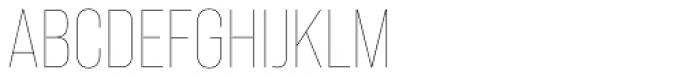 Bebas Neue Pro Thin Font UPPERCASE