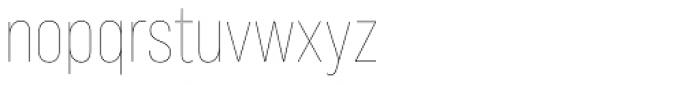 Bebas Neue Pro Thin Font LOWERCASE