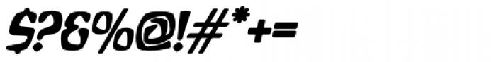 Bebopalula Bold Italic Font OTHER CHARS
