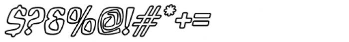 Bebopalula Outline Italic Font OTHER CHARS