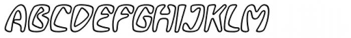 Bebopalula Outline Italic Font UPPERCASE