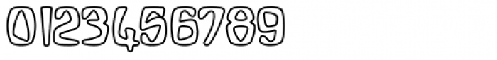 Bebopalula Outline Font OTHER CHARS