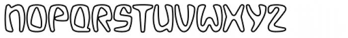 Bebopalula Outline Font UPPERCASE