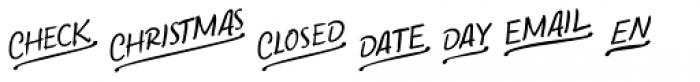 Bechamel Words Font UPPERCASE