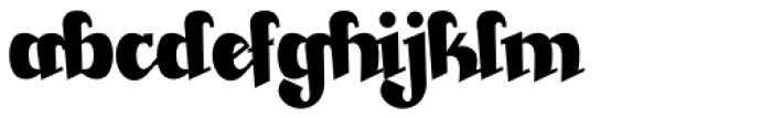 Beckasin Font LOWERCASE