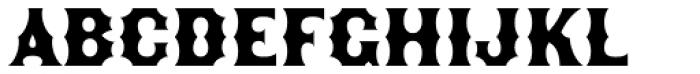 Becker Gothics Concave Font UPPERCASE