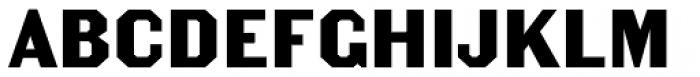 Becker Gothics Egyptian Font UPPERCASE