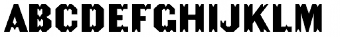 Becker Gothics Tuscan Font UPPERCASE