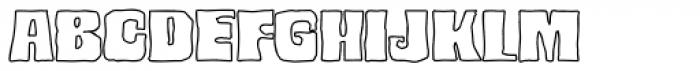 Bedrock Black Outline Font UPPERCASE