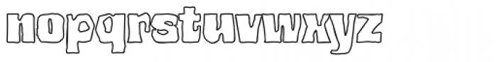 Bedrock Black Outline Font LOWERCASE