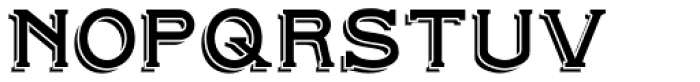 Beeching Small Caps Shadowed Font UPPERCASE