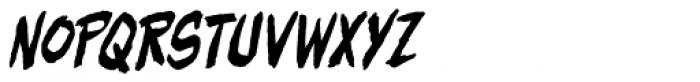 Beelzebrush Alt BB Italic Font UPPERCASE