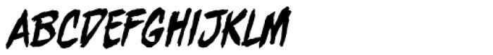 Beelzebrush Alt BB Italic Font LOWERCASE
