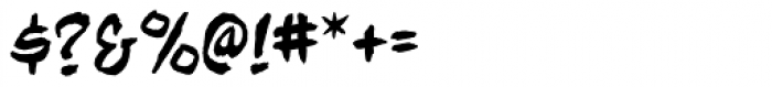 Beelzebrush BB Font OTHER CHARS
