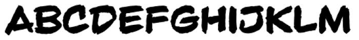 Beelzebrush Black Alt BB Font UPPERCASE