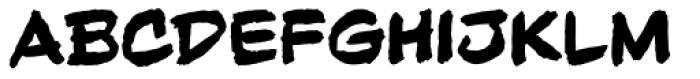 Beelzebrush Black Alt BB Font LOWERCASE