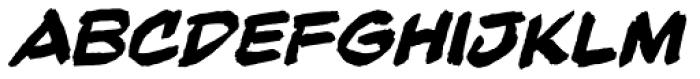Beelzebrush Black BB Italic Font UPPERCASE